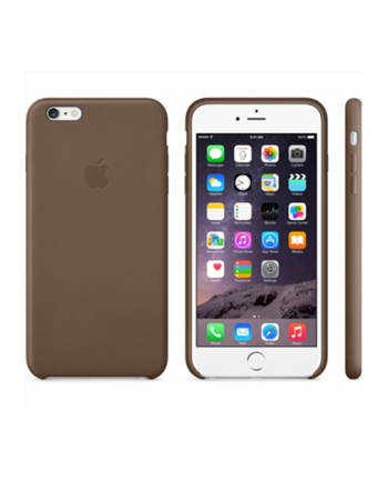 Apple iPhone 6 Plus Leather Case Olive Brown