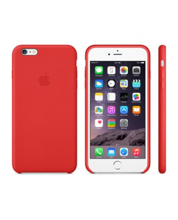 Apple iPhone 6 Plus Leather Case Bright Red