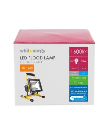 Whitenergy Naświetlacz LED 20W | 6000K | 1600lm | IP65 | Na stojaku