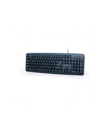 Gembird klawiatura standard USB, US layout, czarna
