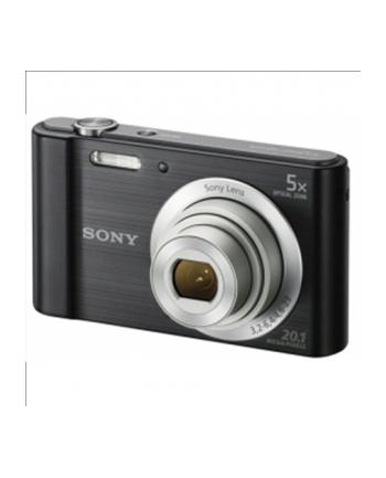 Sony DSC W800 Black / 20.1 megapixels/ 5x optical zoom/Super HAD CCD/ Optical SteadyShot/ 2.7''(6.7cm) LCD/Media: memory Stick Duo, Memory Stick PRO Duo, Memory Stick PRO HG Duo, Memory Stick XC-HG Duo, Memory Stick Micro, USB, Li-Ion batt.