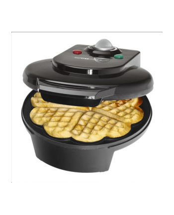 Clatronic WA 3491 Waffle Maker, 1200 W, Black
