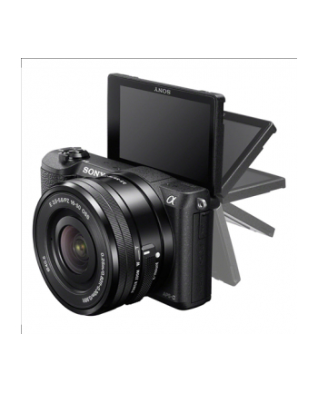 Sony A5100 Black Dual Lens Kit with 16-50mm and 55-210 lenses, 24.3MP Exmor APS-C CMOS sensor, 3.0'' LCD, Zoom 4x, 25 points AF, Wi-Fi