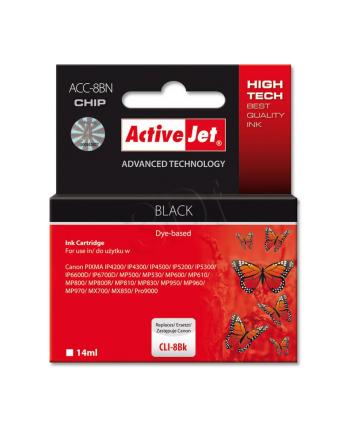 Activejet tusz Canon CLI-8 Black   (z czipem)         ACC-8Bk