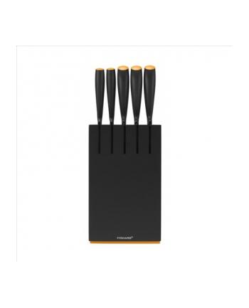 Fiskars Zestaw 5 noży w bloku czarnym Functional Form NEW