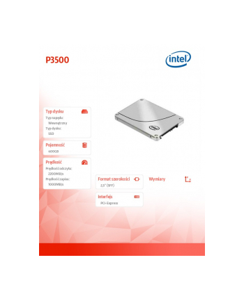 Intel® SSD DC P3500 Series (400GB, 2.5in PCIe 3.0, 20nm, MLC)