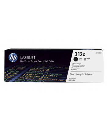Toner HP 312X black 2-pack| 2x4400str | MFP M476 series