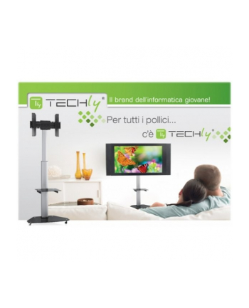 Techly Stojak mobilny do TV LCD/LED/Plazma 37''-70'' VESA, pivot, regulowany