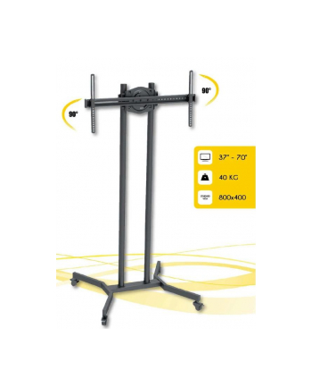 Techly Mobile stand for TV LCD/LED/Plasma 37''-70'' VESA, pivot