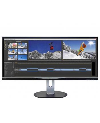 Monitor Philips LED 34'' BDM3470UP/00, IPS-ADS, uwQHD, 14 ms, DVI-D, DP, USB