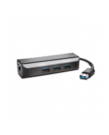 Adapter Kensington UA3000E USB 3.0 to Ethernet Adapter with USB Hub