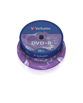 DVD+R VERBATIM AZO 4.7GB 16X MATT SILVER SP 25SZT