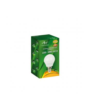 ART Żarówka bańka, mleczna LED E14, 3W, 24xSMD3014, AC230V, 200lm, WW