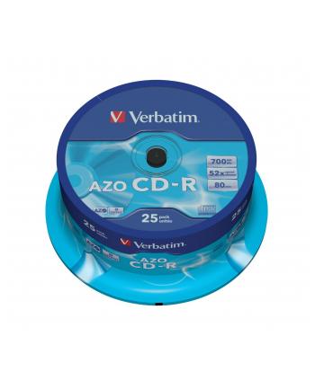 CD-R VERBATIM AZO 700MB 52X CRYSTAL SPINDLE 25SZT