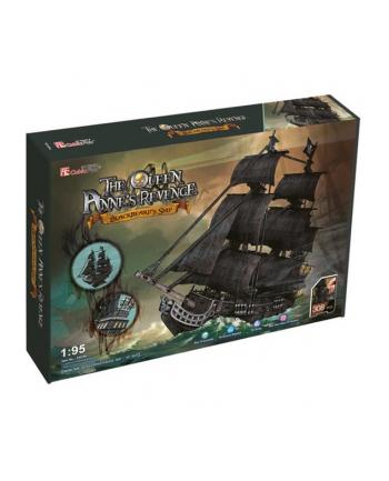 PUZZLE 3D Duży zestaw okręt piracki