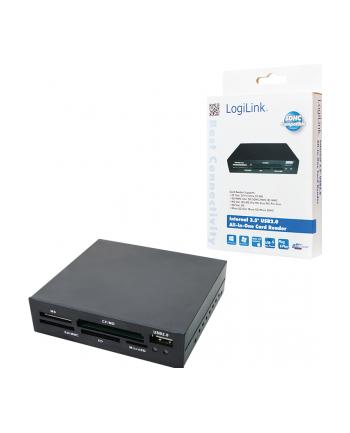 Czytnik kart ALL-IN-ONE wewnętrzny CR0012 LogiLink 3,5'' USB