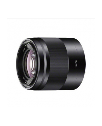 Sony SEL-50F18B E50mm F1.8 portrait lens Black/Optical SteadyShot image stabilisation within lens.