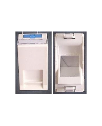 Adapter Keystone/ModMosaic 22,5x45 mm, Kątowy, Biały