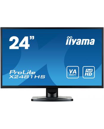 iiyama Monitor Prolite X2481HS-B1 Full HD, 6ms, DVI-D, HDMI, głośniki, czarny