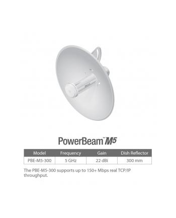 PowerBeam 22dBi 5GHz N150 1xLAN 20km PBE-M5-300