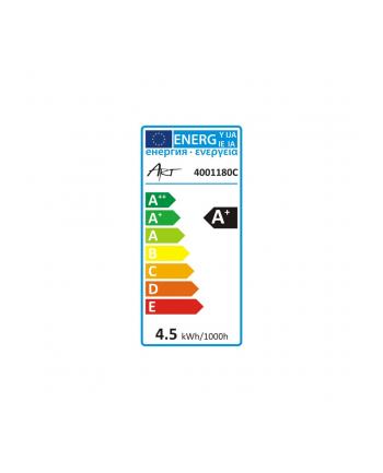 ART Żarówka świecowa, przeźr, gold LED E14, 4.5W, 18xSMD2835, AC230V, 320lm, WW