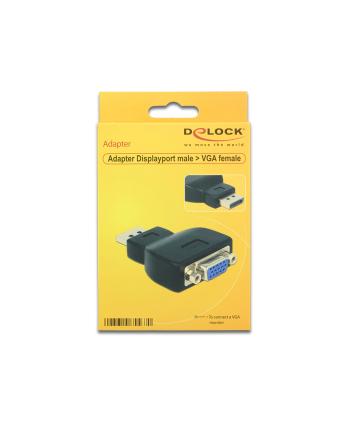 Delock adapter Displayport 1.1 (M) > VGA (F) black
