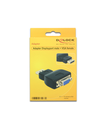 Delock adapter Displayport 1.1 (M) > VGA (F) black