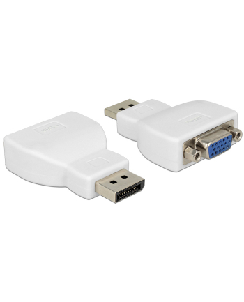 Delock adapter Displayport 1.1 (M) > VGA (F) white