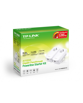 Powerline 1200mb TP-Link TL-PA8010P Kit, AC pass trough, GB Ethernet