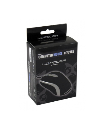 Mysz USB LC-Power M709BS 1000dpi, Black Silver Optical