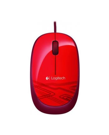 Logitech Retail Mysz Logitech M105 OPT red
