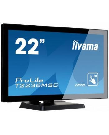 iiyama Monitor Prolite T2236MSC-B2 21.5'', 8ms, VGA, DVI-D, HDMI, USB, black