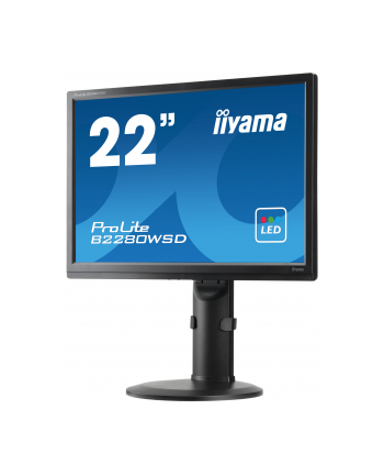 iiyama Monitor Prolite B2280WSD-B1 22'', TN LED, 1680x1050, 5ms, VGA, DVI-D, głośniki