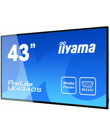 Monitor IIYAMA 43'' LE4340S-B1 AMVA DVI/HDMI/USB Player/2x10W