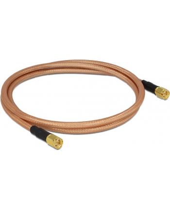Delock Kabel antenowy SMA Plug > SMA Plug RG-142 1m