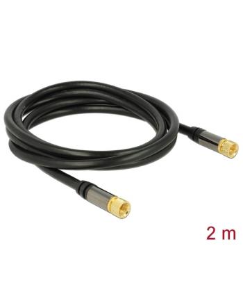 Delock Przewód antenowy wtyk F > wtyk F RG-6/U 2m czarny