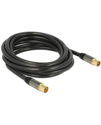 Delock Przewód antenowy IEC Plug > IEC Jack RG-6/U 3m black