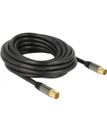Delock Przewód antenowy IEC Plug > IEC Jack RG-6/U 5m black