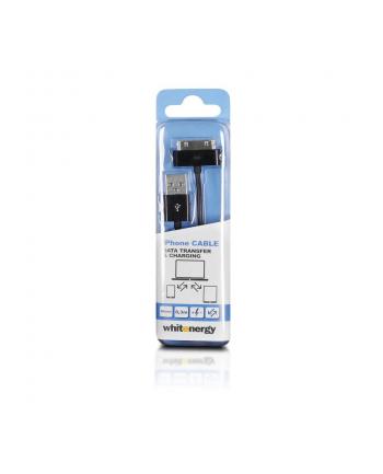 Whitenergy Kabel USB 2.0 do iPhone 4 transfer/ładowanie 30cm czarny