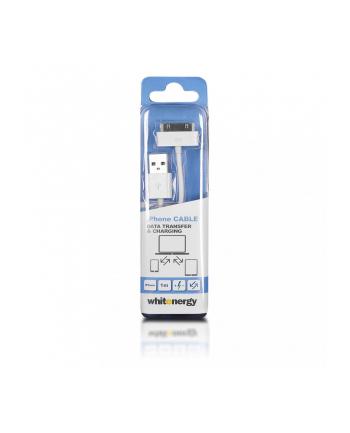 Whitenergy Kabel USB 2.0 do iPhone 4 transfer/ładowanie 100cm biały