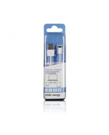 Whitenergy Kabel USB 2.0 do iPhone 5 transfer/ładowanie 100cm biały