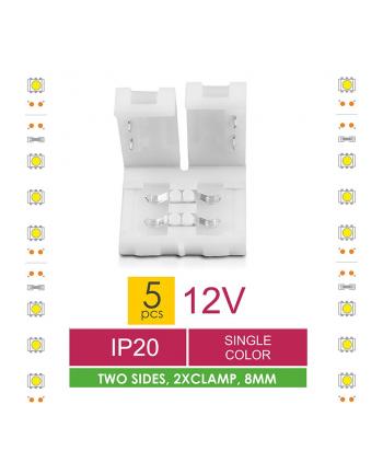 Złączka do taśm LED Whitenergy, dwustronna z dystansem (5 szt)