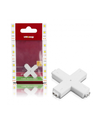 Whitenergy Złączka do taśm LED krzyżyk Whitenerg , czterostronna  4x 2 pin żeński (1szt)