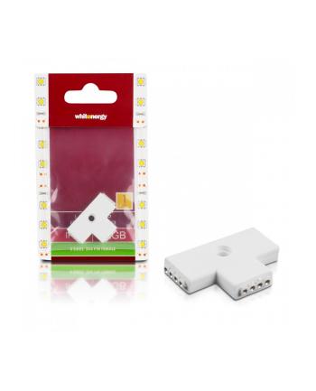 Whitenergy Złączka do taśm LED Whitenerg , trójstronna  3x 4 pin żeński (1szt)