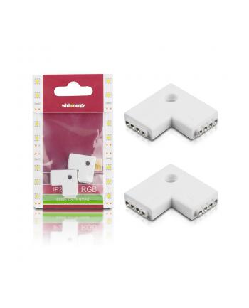 Whitenergy Złączka do taśm LED Whitenerg , dwustronna 2x 4 pin żeński (2szt)
