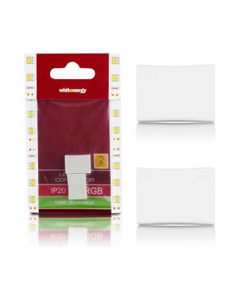 Whitenergy Złączka do taśm LED Whitenerg ,RGB, dwustronna  2x 4 pin żeński (2szt)