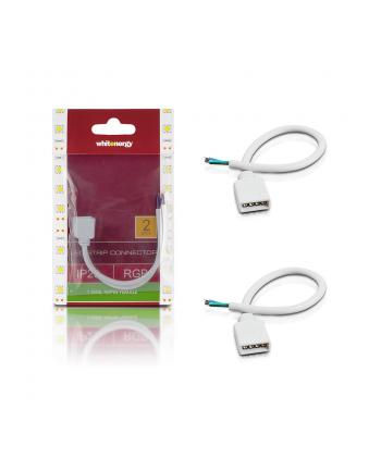 Whitenergy Złączka do taśm LED z kablem Whitenerg,RGB, jednostronna 4pin żeński 15cm (2szt)