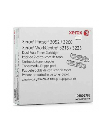 XEROX Toner Czarny 106R02782=Phaser 3052  3260  WorkCentre 3215  3225   2x3000 str.