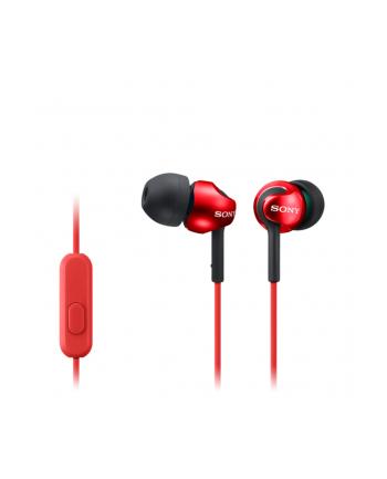 Sony MDR-EX110APW Słuchawki douszne zamknięte  czerwone AP (z mikrofonem)