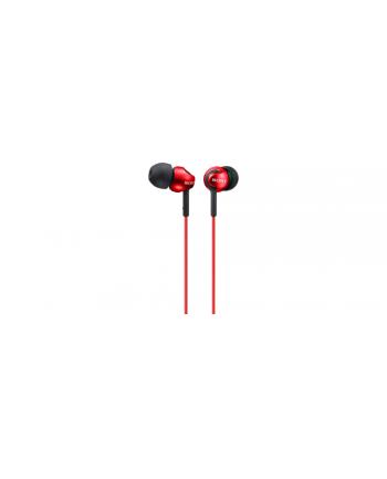 Sony MDR-EX110 Słuchawki douszne zamknięte,  kopulkowa membrana czerwone